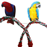 Beautiful Design Parrot Bird Toys Decorative Pet Bird Parrot Standing Rope Cockatiel Parakeet Conure Cage Swing Perch Toy