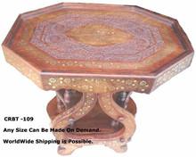 Talla de madera de comedor mesa plegable
