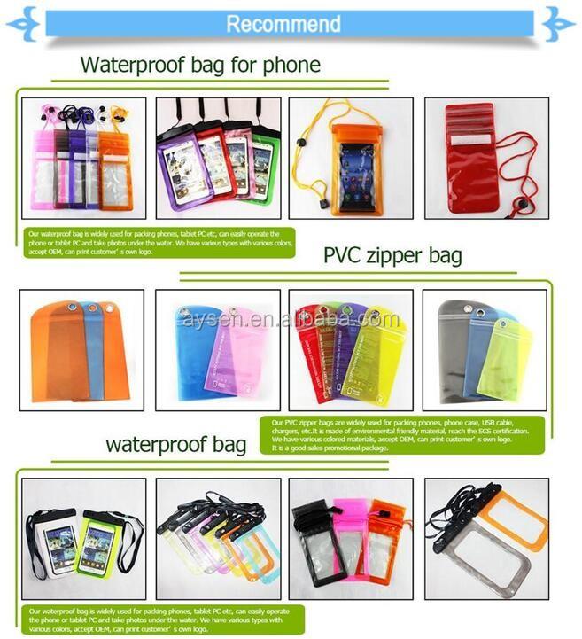 waterproof transparent clear pvc zipper bag