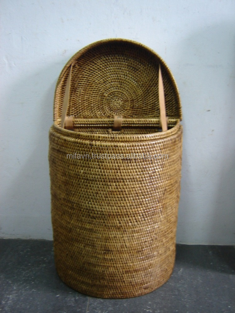 Full rattan wicker laundry basket with lids buy rattan full wicker laundry basket with lids - Rattan laundry basket with lid ...