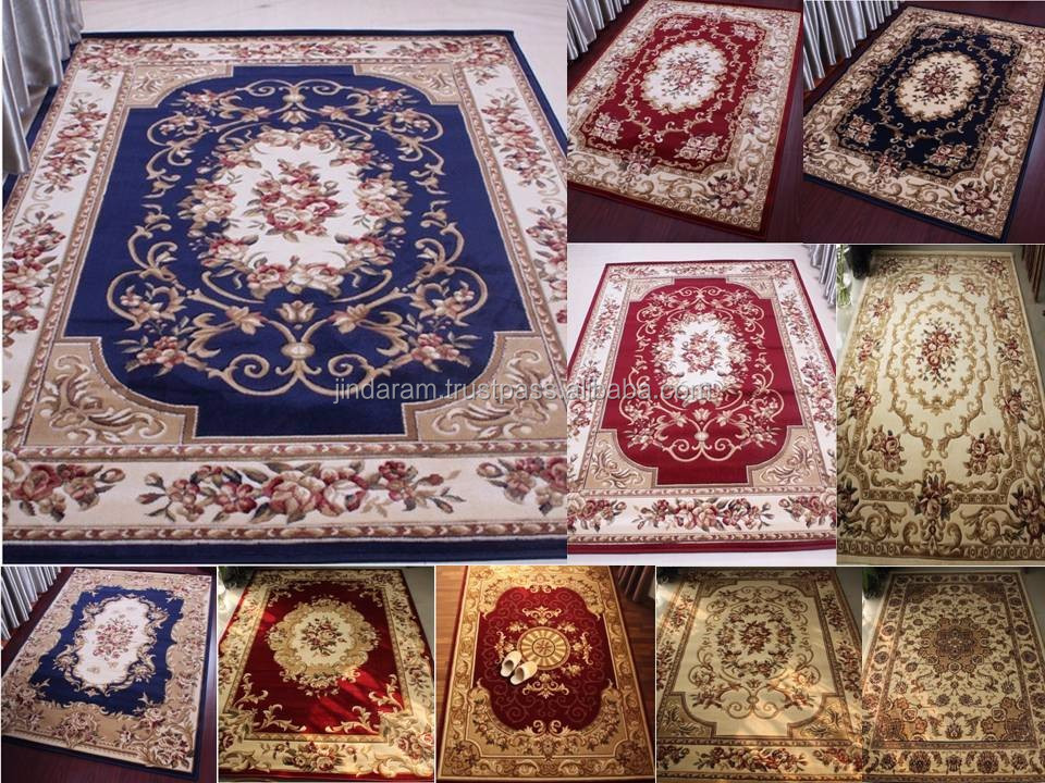 Latest Persian style cut pile stocklot carpets.JPG