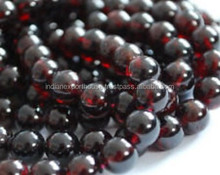 AAA High Quality Natural Red Garnet Gemstone Smooth Round Beads 5MM