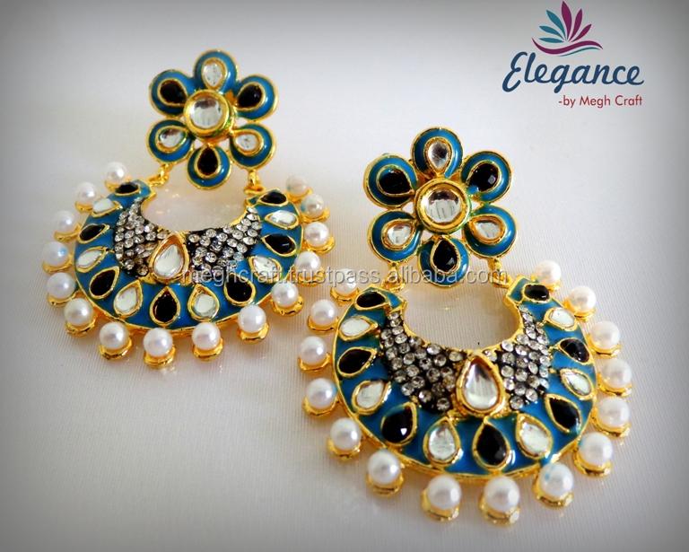 Bollywood Style Earrings Indian Fashion Earring