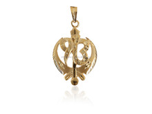 INDIAN RELIGIOUS SIKH SYMBOL IK ONKAR PENDANT IN SOLID BIS HALLMARK 22KT 18KT 14KT YELLOW GOLD