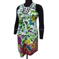 White 100% Cotton Spaghetti Strap Midi Short Dress Sundress With Defect Size S