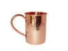 SOLID COPPER STRAIGHT MUG 16 OUNCE SMOOTH WITH COPPER QUESTION MARK HANDLE