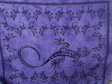 Lovely Lizard Tapestry ,indian tapestries ,cotton wall hanging /picnic blankets/tapestry