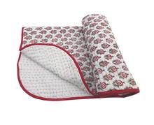 MARIGOLD Kantha Work Hand Block Printed Baby Quilt