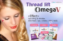 Face lift needle with PDO suture