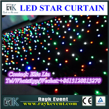Outdoor dmx led curtain starlight backdrop curtain with flash led light bulbs for wholesale