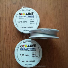 Sports fishing line, nylon fishing lines[made in Germany ] Megastrong-Soft 100M clear