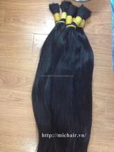 HOT BEAUTY straight bulk 100% virgin hair unprocessed hair factory price raw hair
