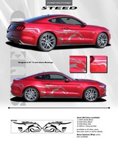 For FORD MUSTANG Graphics Kit Decals Trim Emblems 2015 2016