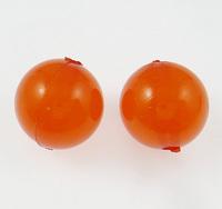12mm reddish orange Round Clearance Acrylic Beads