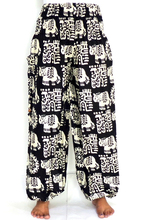 Elefante Imprimir Yoga pantalones al por mayor-hippie boho-pantalones-Mujeres Baggy elefante Pantalón con bolsillo lateral