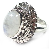 Rainbow Moonstone rings Vintage jewelry Antique silver rings Ethnic jewelry semi precious wholesale silver rngs jewelry