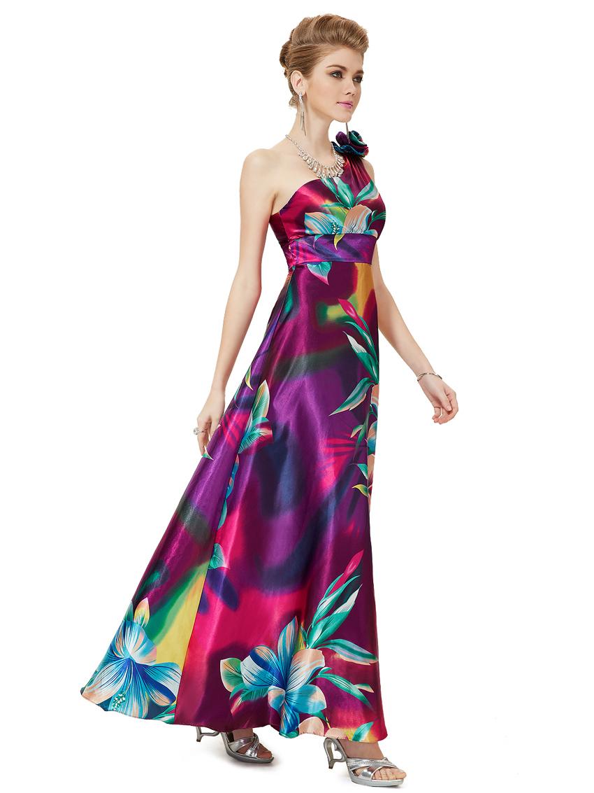 Encantador Florales Impresos Vestidos De Dama Ideas Ornamento ...