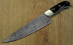 CUSTOM HANDMADE DAMASCUS STEEL CHEF KNIFE