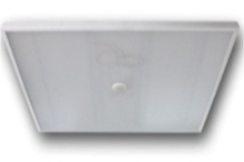 LED office ceiling fixture with in-built motion sensor and light sensor and prismatic glass 220V IP40 NI