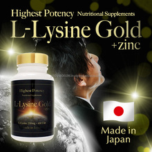 Highest potency L-lysine hair supplement with zinc made in Japan