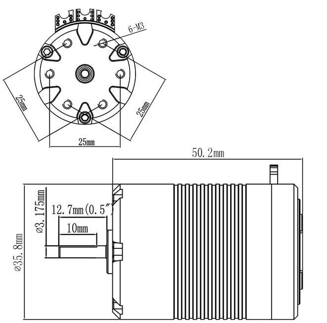 RC competition brushless 540 hall sensor 9100KV sensored powerfulrc engines