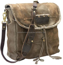 2015 canvas leather executive bag for men/ college bags canvas india/china laptops for men