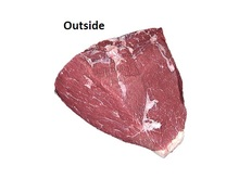 Frozen halal certified beef outside and other primals