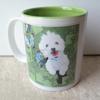 11oz 2tones Ceramic Mug Customise with dog image