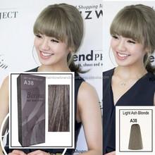 Berina Permanent Hair Color Cream Dye Fashion Light Ash Gray Blonde A38 Salon
