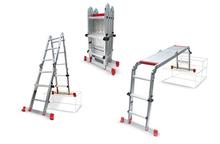High platform and aluminium ladder Art. 306A Stanzani Tools.