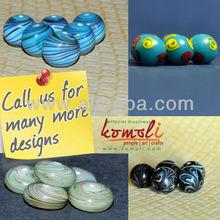 De cristal de murano flameworking forma redonda de vidrio hecho a mano cuentas de varios diseños personalizados, de color