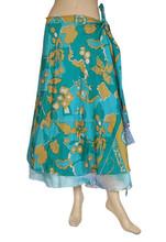 Indian Silk Sari Magic Wrap Skirts USA
