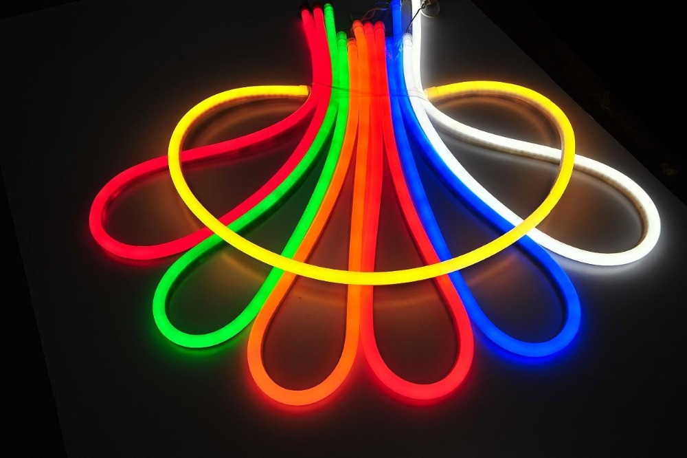 led neon rope light buy color changing dimmable led rope neon light. Black Bedroom Furniture Sets. Home Design Ideas