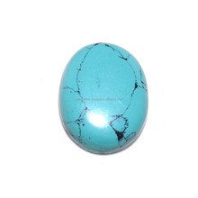 High quality green turquoise cabochon gemstone