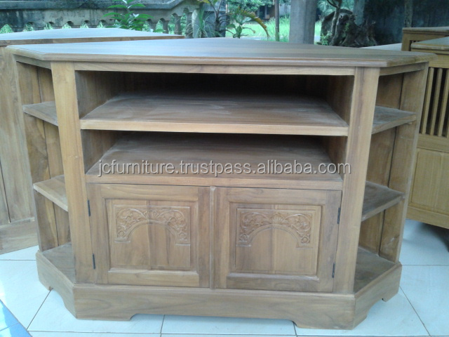 meubles en bois teck coin tv stand conception meubles en. Black Bedroom Furniture Sets. Home Design Ideas