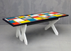 Mondriaan Dining Table with Clear Cast