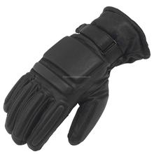 Men's Thin Unlined Police Search Duty Gloves Leather Black KLI-1126