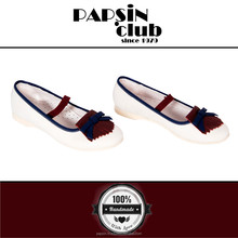 High Quality 100% leather Stylish Slip-On ballerina flat Shoes for Girls 2015-2016