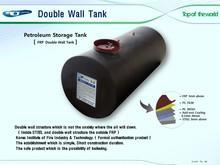 40,000L Steel FRP Double Wall Storage Tank
