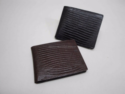Faux Lizard Print Mens Credit Card Leather Wallet