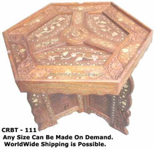 carving wooden study table for children