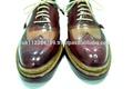 hombres oscar guillermo de la realeza de londres caballero hecho a mano triple suela wingtip abarcas welted goodyear de zapatos