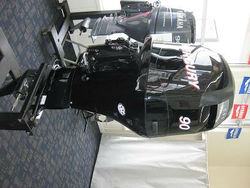 USED SU ZU KI 90 HP 4 STROKE OUT BOARD MOTOR