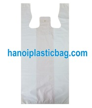 PE white T-shirt bag export to Australia/ Canada/ Germany/ France with cheap price