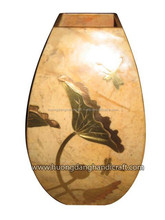traditional painted lacquer stone vase made in vietnam