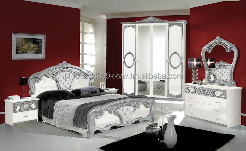Sibillia Bedroom Set In White And Grey Buy Bedroom Product On
