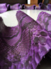Genuine Reptile Python Snake Skin Leather Material Hide Matte Purple