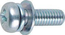 TRUSCO Pan head set embedded screw 3 white p-4 size M3X6 95 pieces