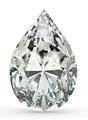Quilate 3.00 d si de forma de pera gia certificado sueltas diamante