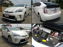 Durable beautiful used Toyota car Prius hybrid with navigation systems for sale